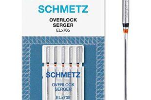 SCHMETZ Nähmaschinennadel ELx705   5 Overlock-Nadeln   Nadeldicke: 80/12